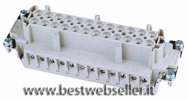 Socket insert 24-pin 16A,screw terminal