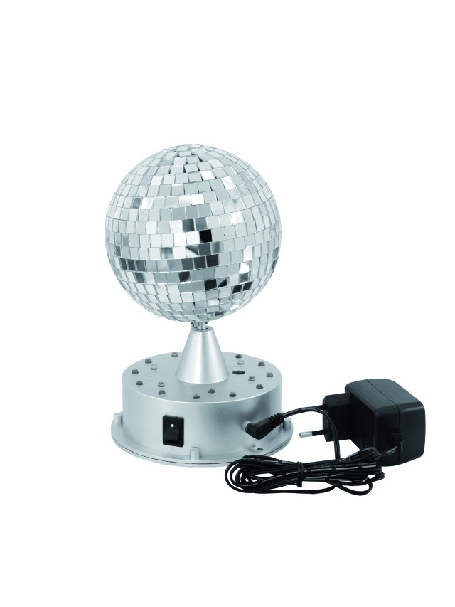 Sfera Specchiata LED 13cm con base illuminata