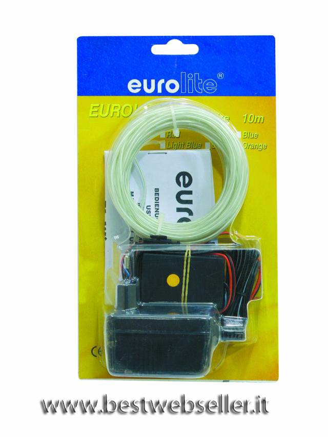 EUROLITE EL Luce Fibra Ottica 2mm, 10m, light blu