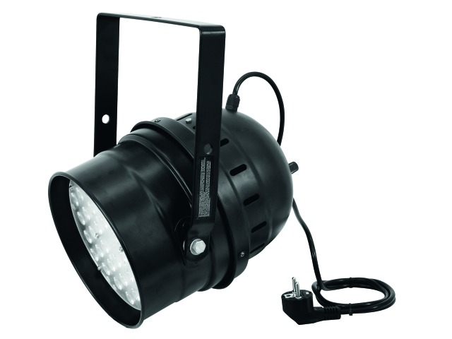 EUROLITE LED PAR-64 W/A 36x1W Short colore nero