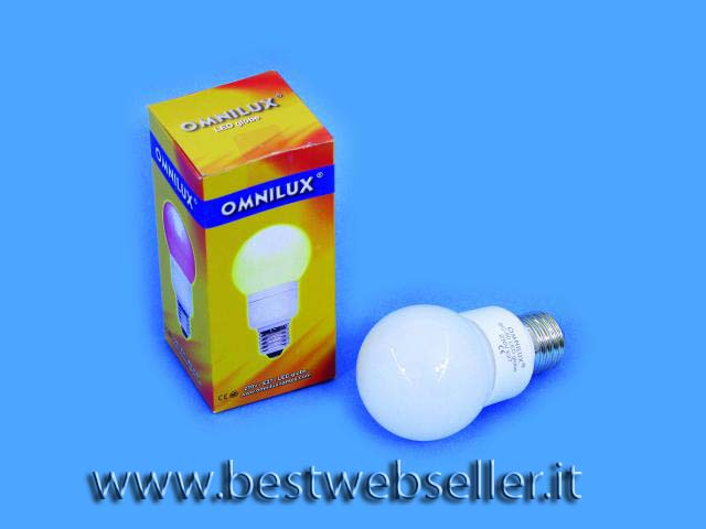 Lampadina OMNILUX LED globe 50mm Giallo E27