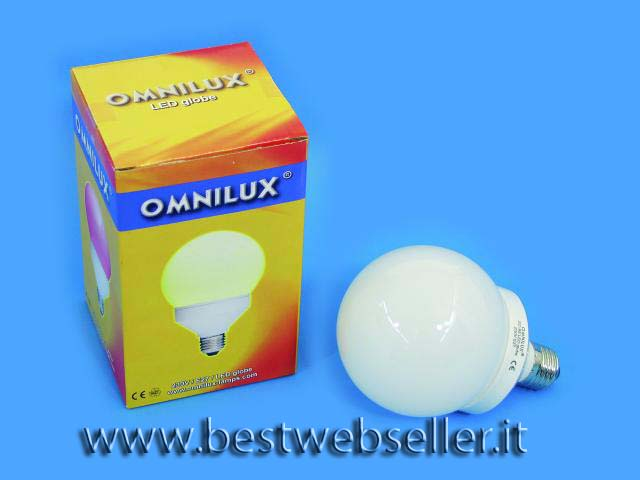 Lampadina OMNILUX LED globe 95mm Giallo E27