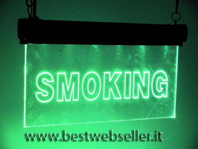"""EUROLITE LED sign """"Smoking"""" di colore verde"""
