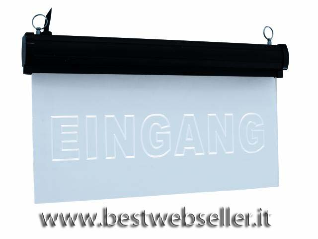 """EUROLITE LED sign """"Eingang"""" blu"""