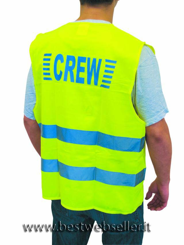 """Safety vest Giallo """"CREW"""""""