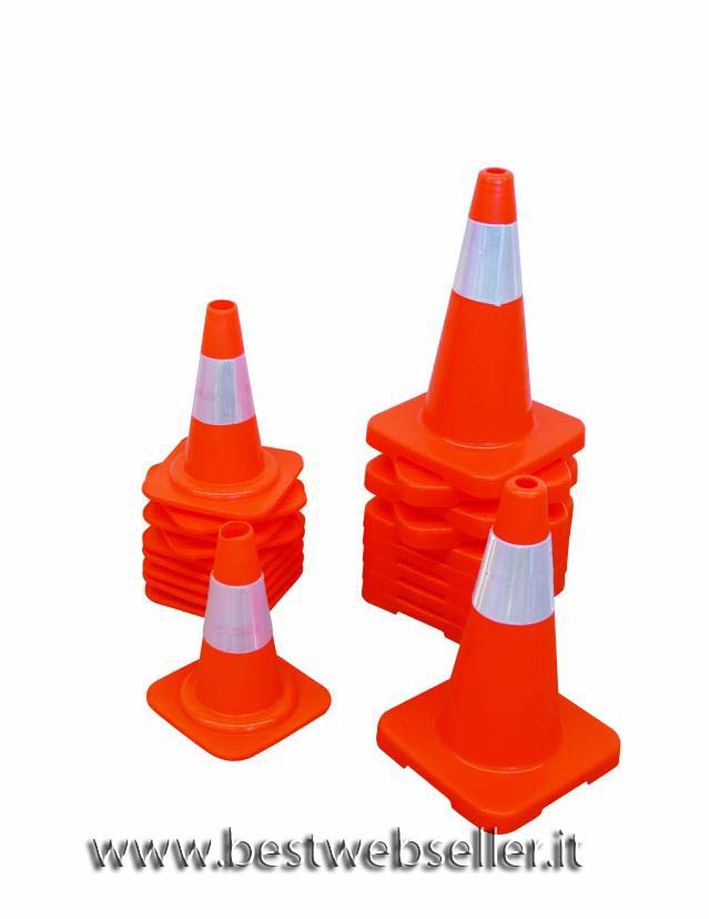 Fluorescent traffic cone H 460mm 10 pezzi