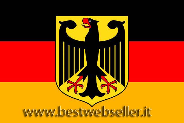 Bandiera Gigante 600 x 360cm Germany with eagle