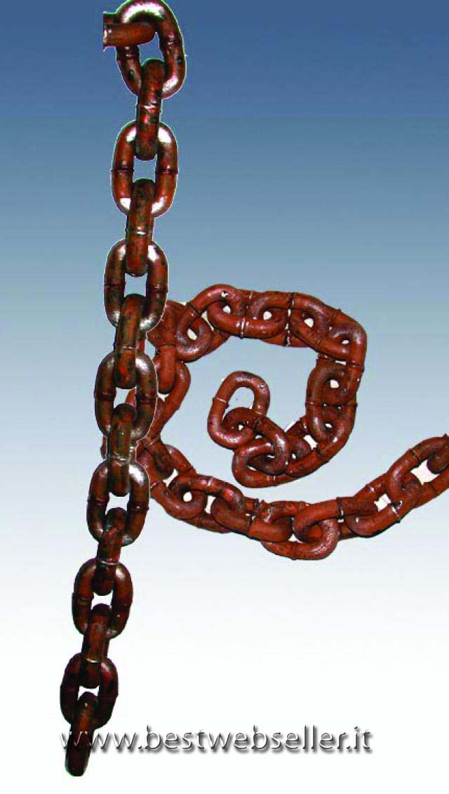 Rusty chains 100cm