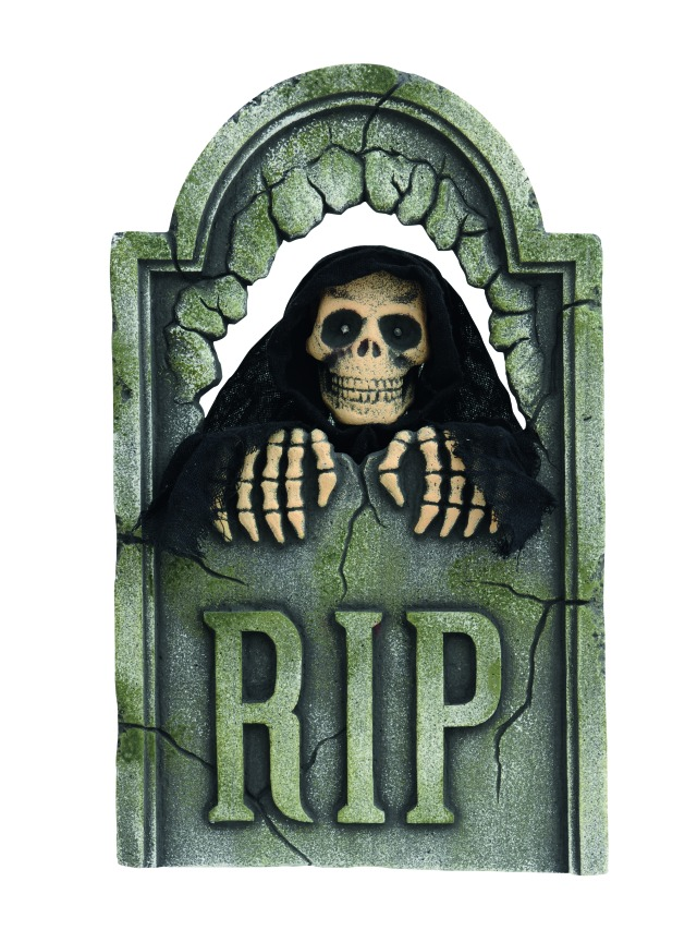 Halloween gravestone, animated