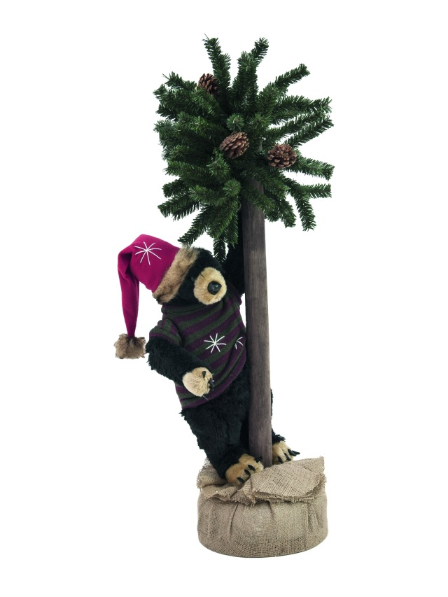 Christmas bear, with fir, 105cm