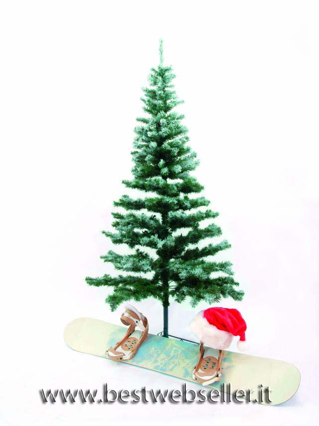 Abete albero, snow-flocked incl.base 180cm