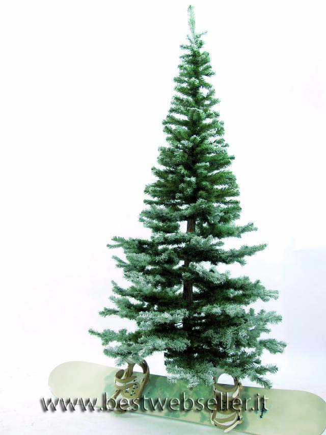 Abete albero,natural trunk snow-flocked 240cm