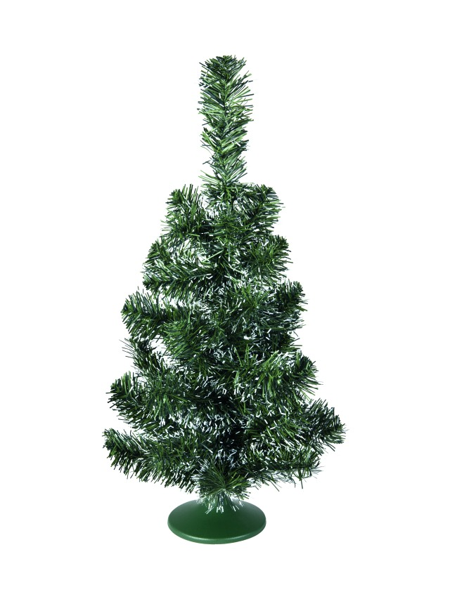 Table christmas tree, green-white, 45cm