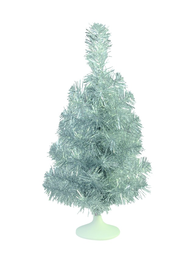 Table christmas tree, silver, 45cm