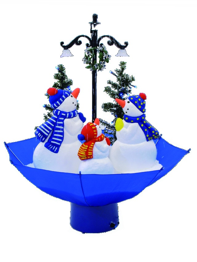 Snowing snowmen family umbrella