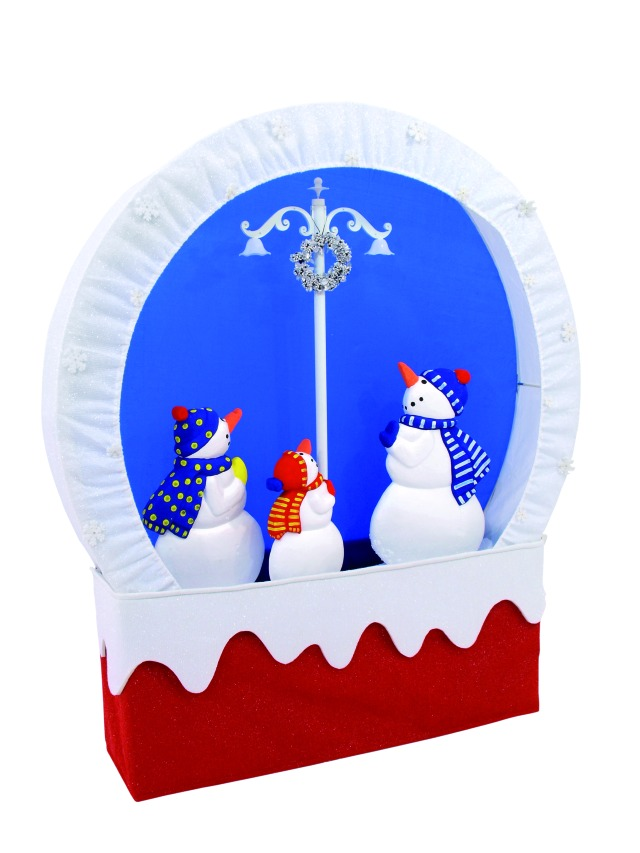 Snowing Christmas stage Snowmen Family