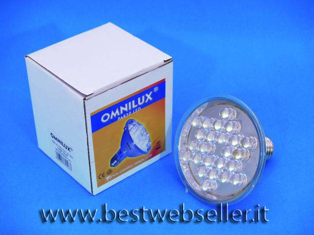 OMNILUX PAR-30 230V E27 24 LED 10mm di colore verde