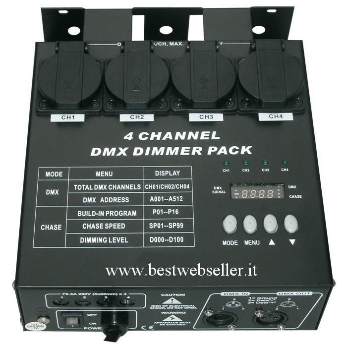 Centralina Dimmer Pack MultiDim MK2 Channel DMX