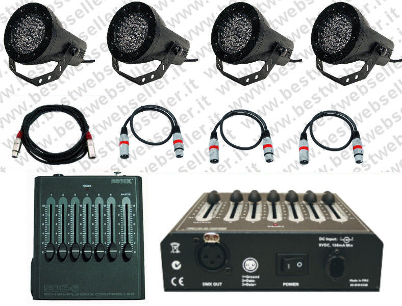 Kit Par LED 20W + Centralina SDC + Cavi
