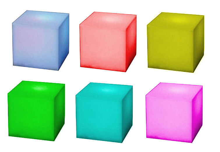 Cubo LED Cambiacolori - 3 Led UltraBright