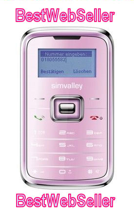 Mini Celllare Simvalley Pico RX-180 INOX Rosa Metallizzato