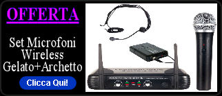 Kit Microfoni Wireless