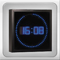 Orologio Led Da Parete LED Ultrabright Blu