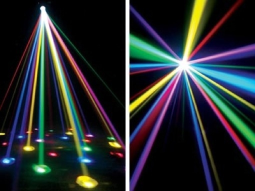 Effetto Luce LED DMX Scanner Strobo American Dj Pearl Led Color